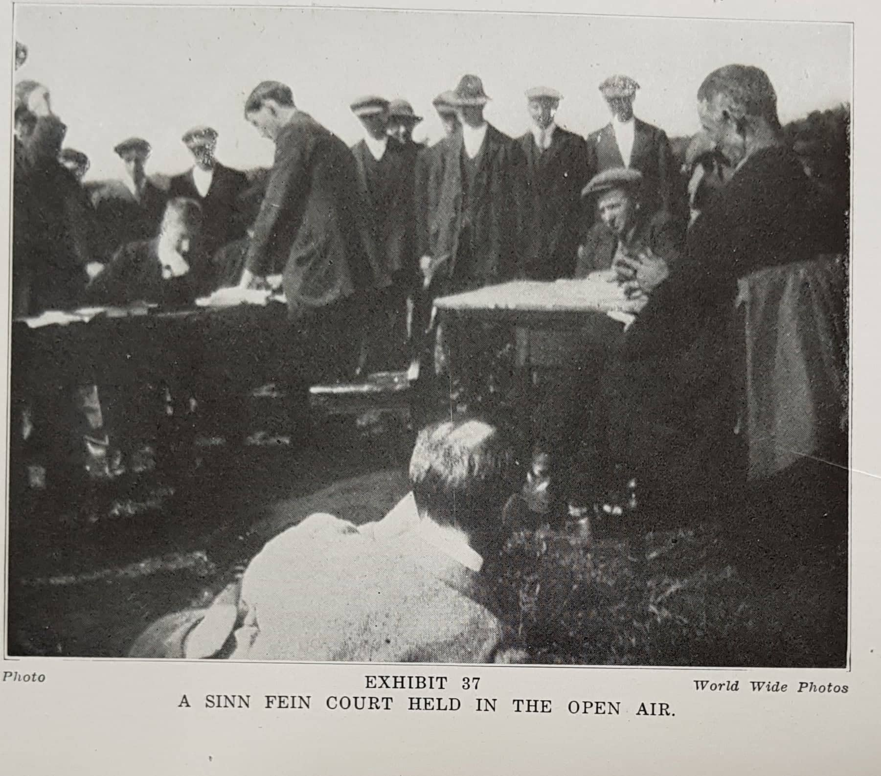 A Sinn Fein court held in the open air